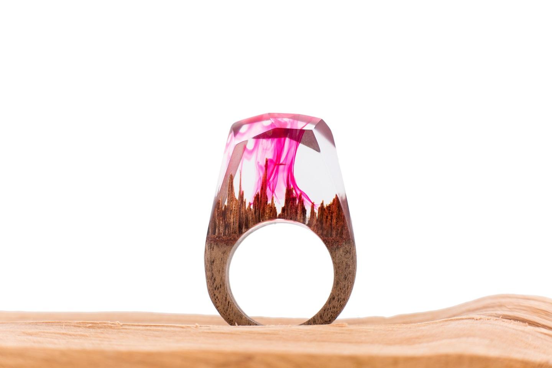 Pierscionek Pink Wave 1
