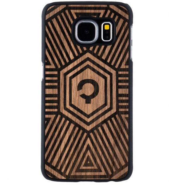 Wooden-case-Samsung-Galaxy-S6-Orzech-Geometrical
