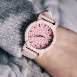 wooden watch flake rose