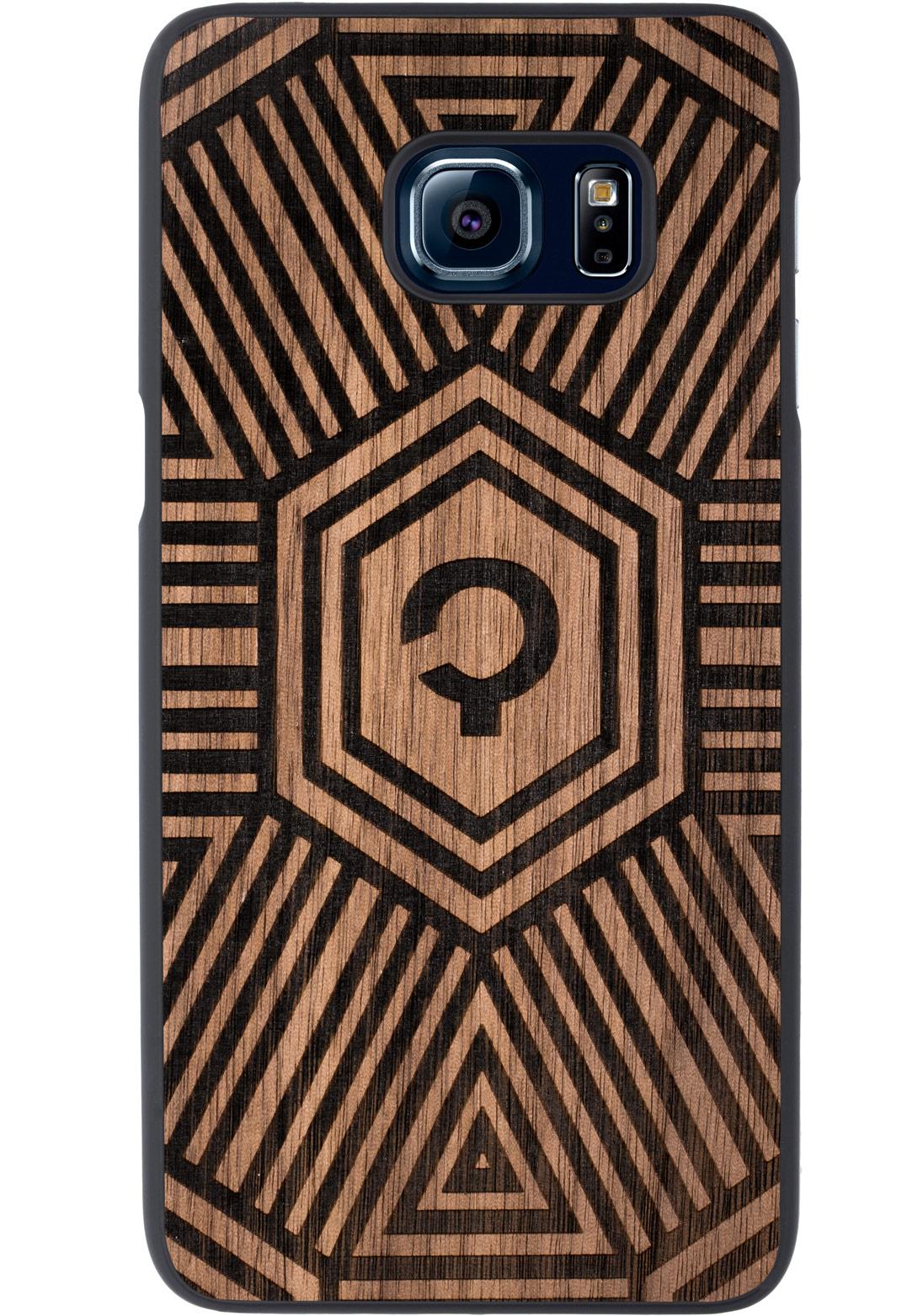 Wooden Case - Samsung Galaxy S6 EDGE Plus - Walnut - Geometrical
