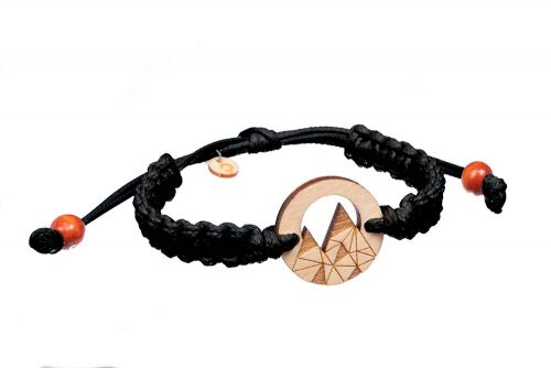 wooden bracelet mountains