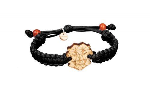 wooden lion bracelet