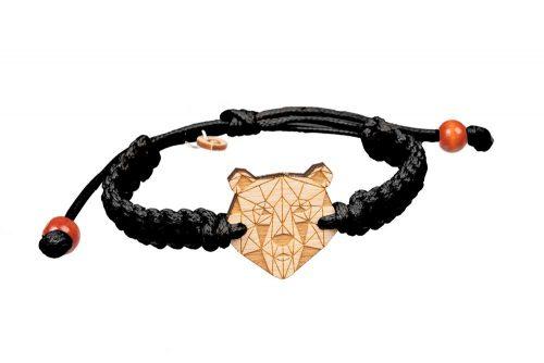 bear wooden bracelet