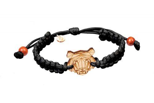 tiger wooden bracelet