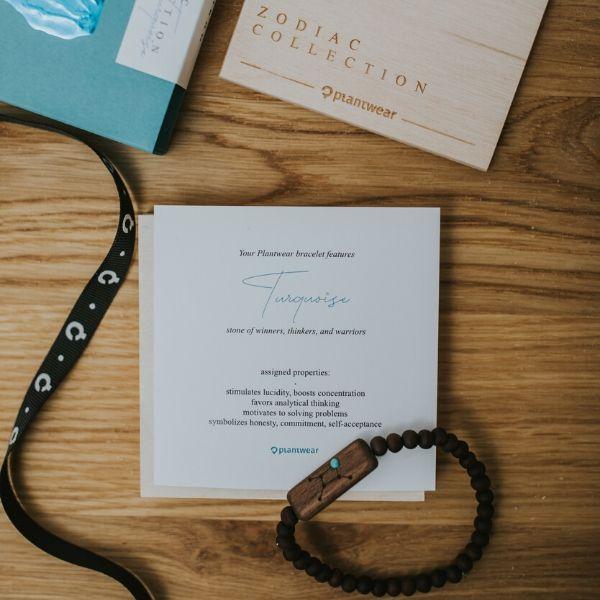 wooden bracelet zodiac