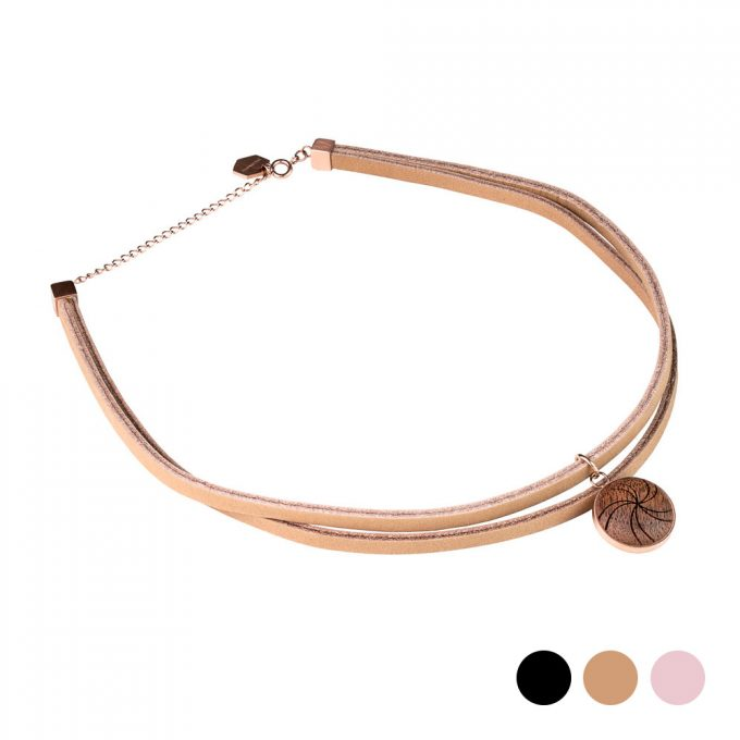 leather choker, Plantwear choker