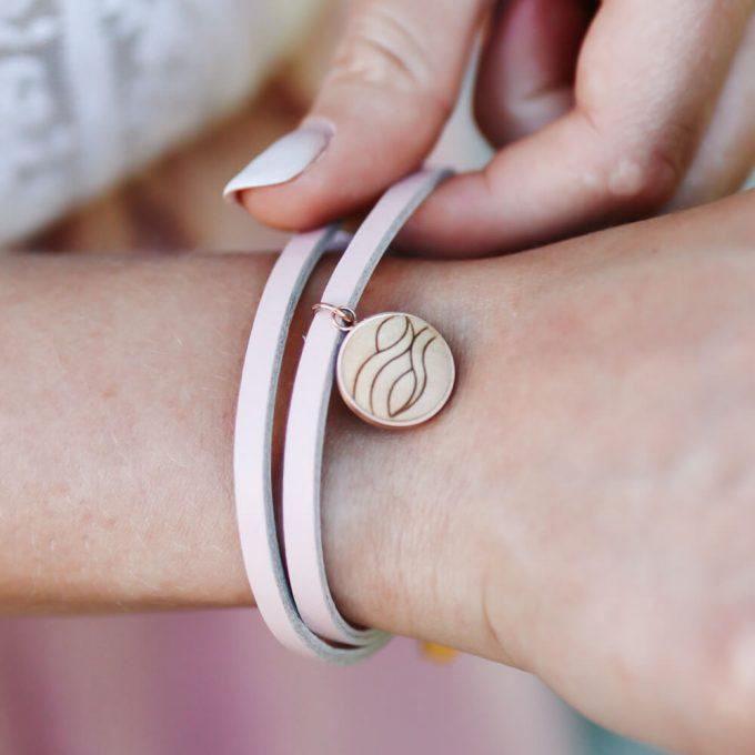 leather bracelet water