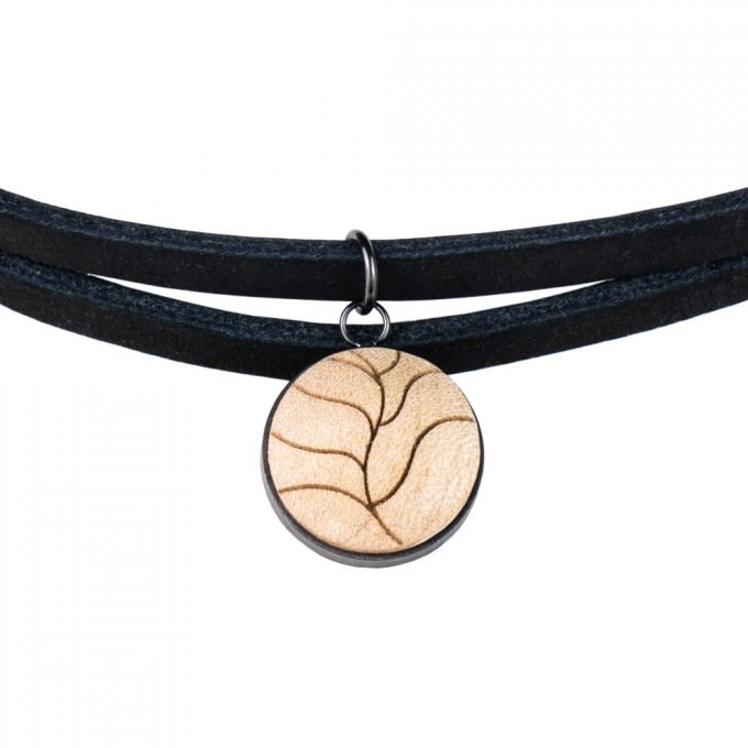 leather choker earth