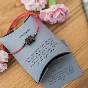 wooden bracelet letter
