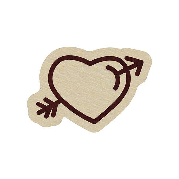 wooden pin heart arrrow