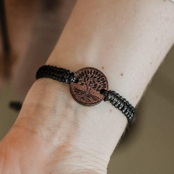 wooden bracelet tree of life