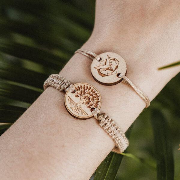 wooden bracelet owl