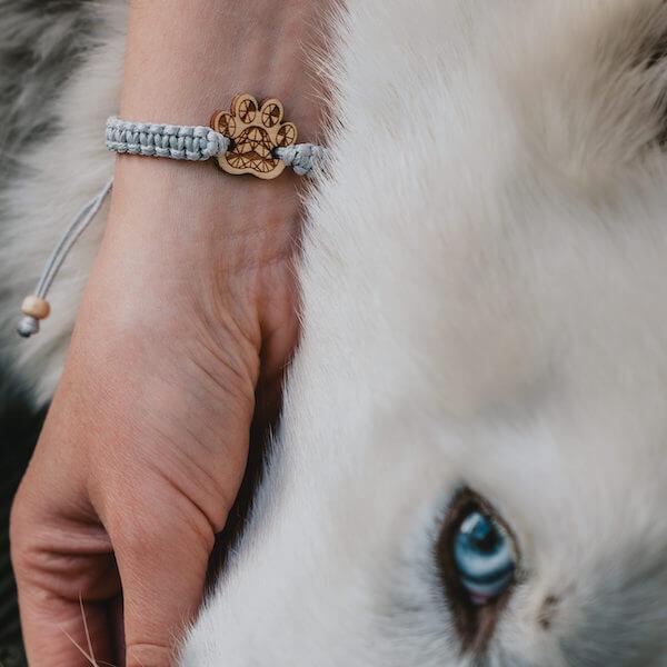 wooden bracelet paw