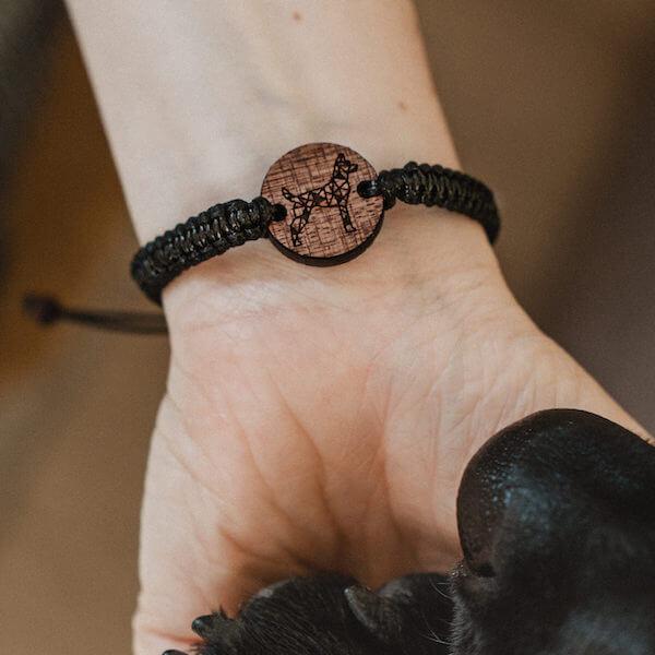 wooden bracelet puppy