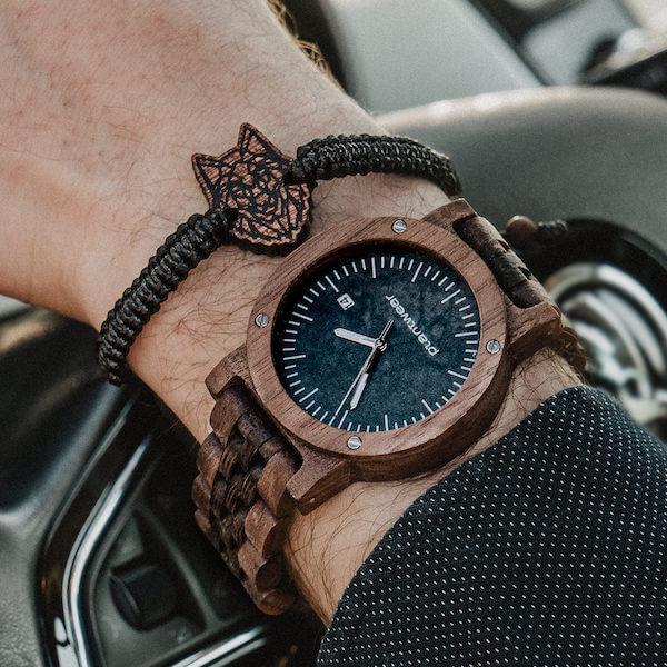 wooden bracelet wolf