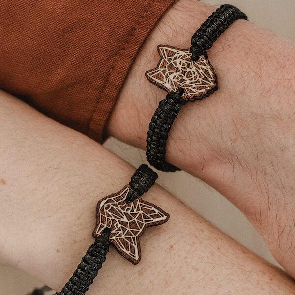 wooden bracelet she-wolf