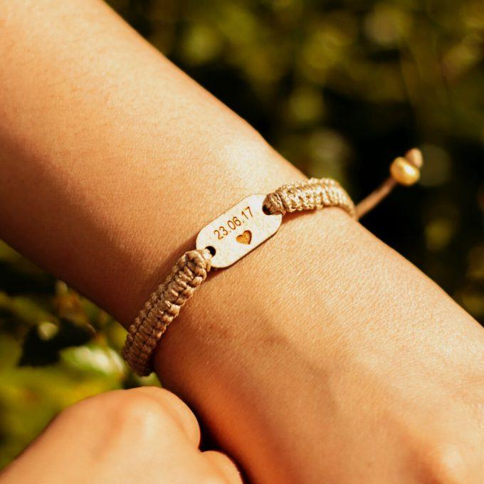 wooden braided bracelet