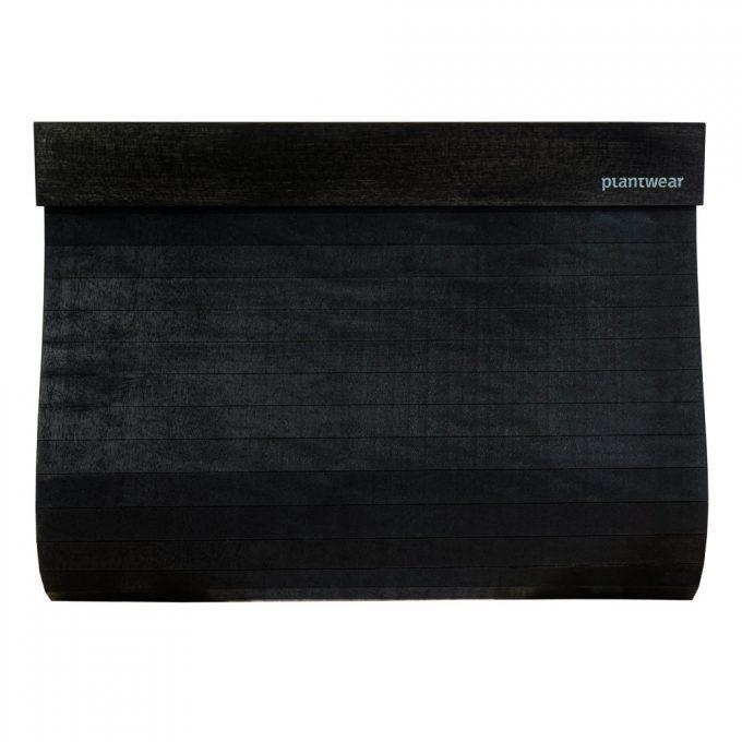 wooden clutch bag