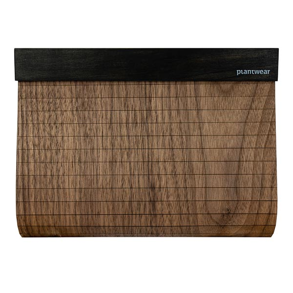wooden clutch bag walnut
