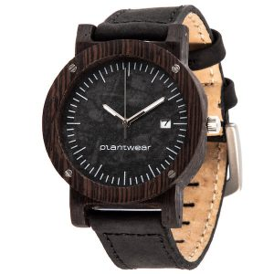 wooden watch raw ebony