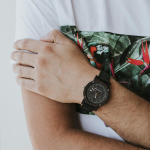wooden watch raw ebony