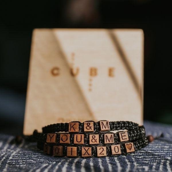 customized bracelet cube