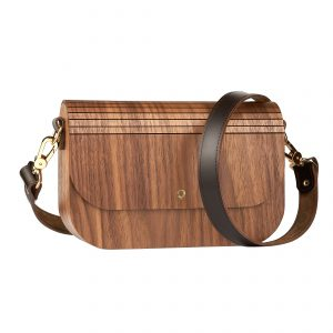 wooden handbag groove walnut