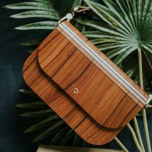 wooden handbag groove rosewood