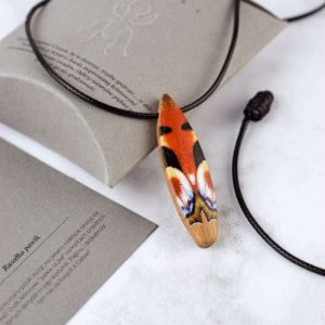 wooden necklace insects