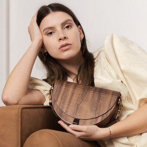 Wooden Handbag - Luna - Walnut